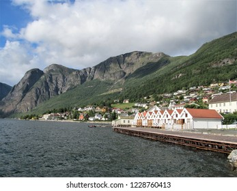 Norway typical environment. Fiord, mountains and water