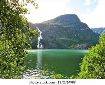 Norway waterfall fiord