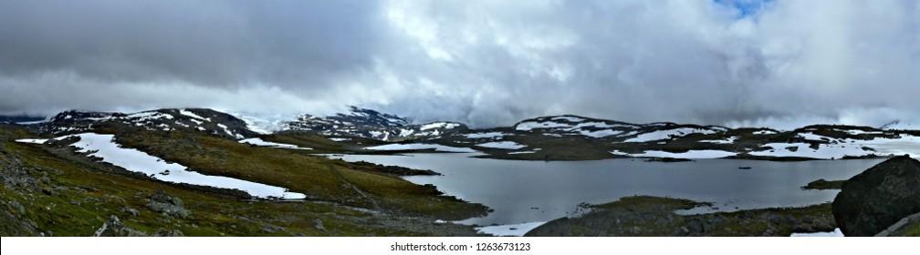 Norway-panoramic view on the Jotunheimen