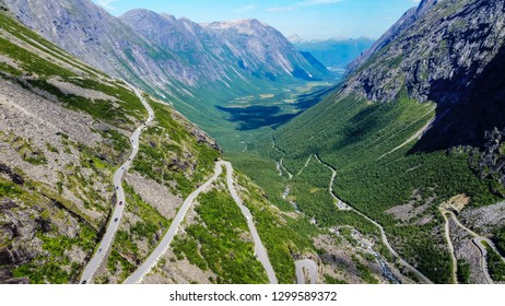 Norway's high mountains,winding roads and transport regions