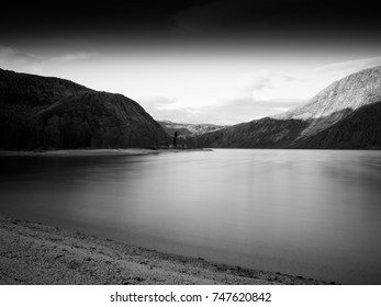 Norwegian black and white fjord landscape background hd