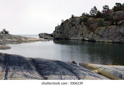 Norwegian coastline in the early spring 2007