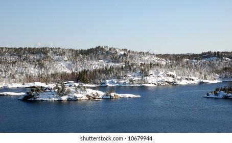 Norwegian Coastline in winter 2