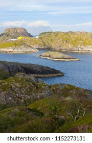 Norwegian fjord top view