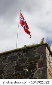 The Norwegian flag in Kongsvinger fortress