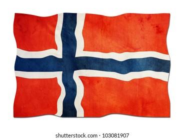 Norwegian Flag made of Paper