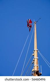 Norwegian flag on the masthead