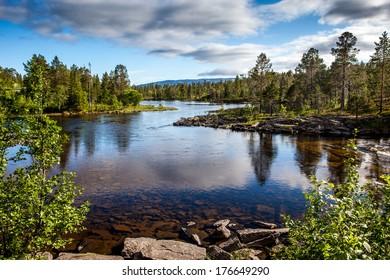 norwegian landscape - fjords, mountains, sea