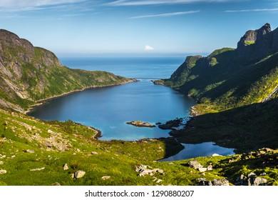 Norwegian Landscape in Ulriken, Lofoten Islands