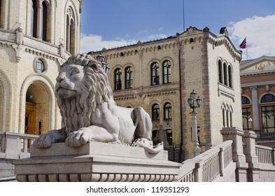 Norwegian parliament Storting Oslo, Norway