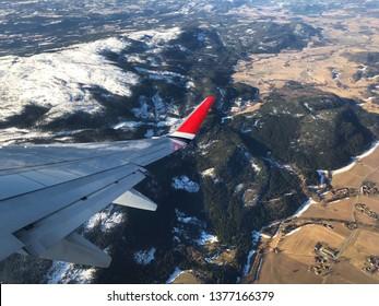 Norwegian plane over Hægra near Stjørdal in Trondelag. The Norwegian logo is removed.