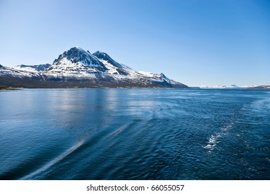 Norwegian rocky coast landscape