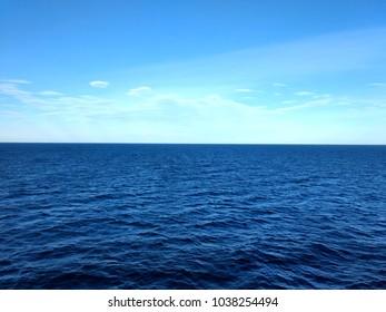 Norwegian sea by ferry autumn