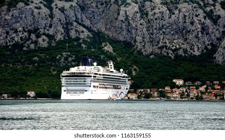 Norwegian Star, Kotor, Montengero: July 18 - Cruise star at anchor in Kotor Bay