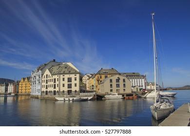 The Norwegian town of Aalesund