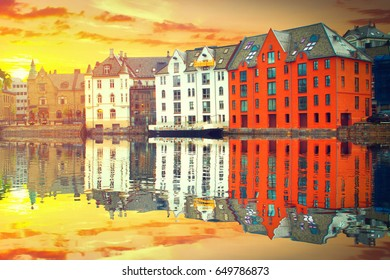 The Norwegian town of Aalesund. beautiful places in Europe.