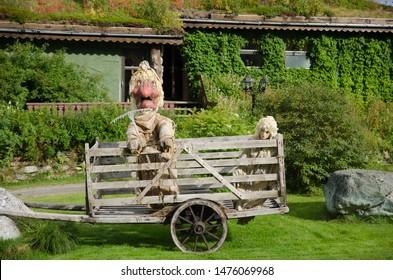 norwegian trolls trolls in norway fjord landscape nature