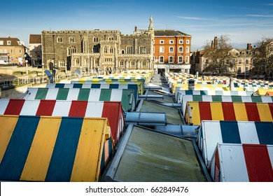 Norwich covered market and city centre buildings