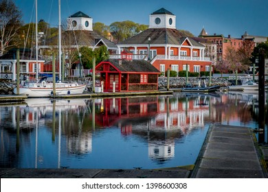 Norwich, Ct / United States - 04-24-2017. The Marina at Norwich Harbor