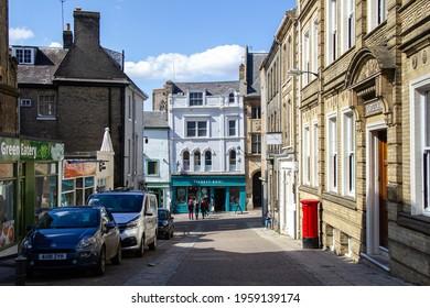 NORWICH, ENGLAND - April 16 2021: Opie Street in Norwich city centre, Norfolk