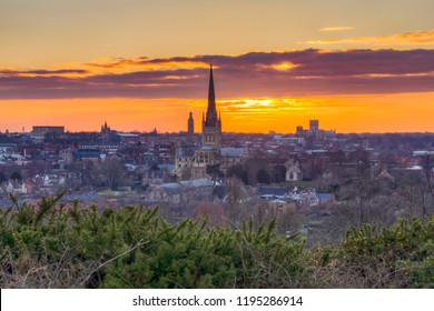 Norwich sunset from mousehold heath