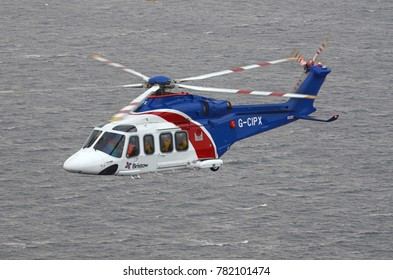 NORWICH, UNITED KINGDOM, November 10, 2016: AW139 helicopter