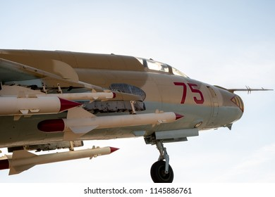 nose of the aircraft and missiles under the wings, combat aircraft and its coloring USSR