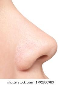 Nase einzeln auf weißem Hintergrund