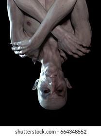 Nosferatu. Detailed 3D render. Just hanging around on a moonlit night.