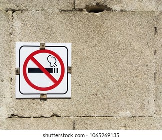 Nosmoking sign on the wall