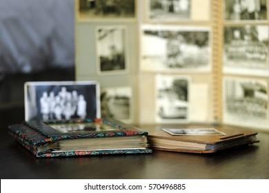 Nostalgic Old Family Photo Albums