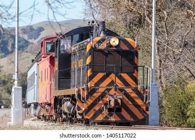 A nostalgic ride on a train in Sunol, California.