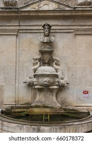 Nostradamus Fountain in Saint Remy  de Provence, France.