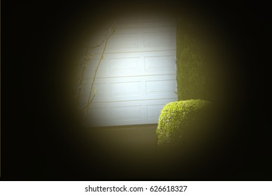 Nosy neighbors peeping on the neighbors