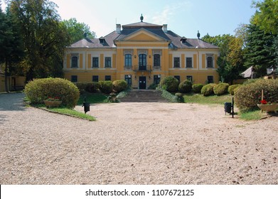 NOSZVAJ, HUNGARY: De la Motte Mansion built in the Baroque style. It was commissioned by Baron Samuel Szepessy and its construction lasted from 1774-1778.