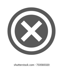 Not icon.  simple illustration of not icon isolated on white background