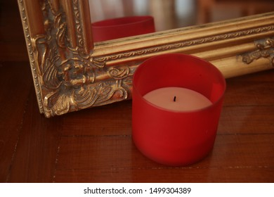 not lit candle in decorative environment