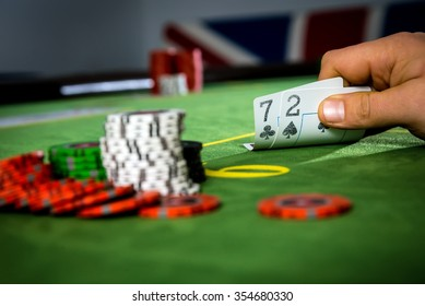 Not lucky hand in poker