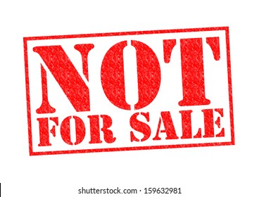 NOT FOR SALE Rubber Stamp over a white background.