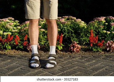 Not so sexy! White socks in sandals