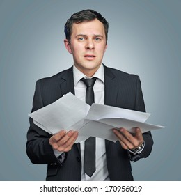 not sure young man with papers