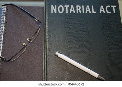 notarial act kept in green hard cover