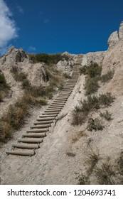 Notch Trail Ladder on a blue sky day