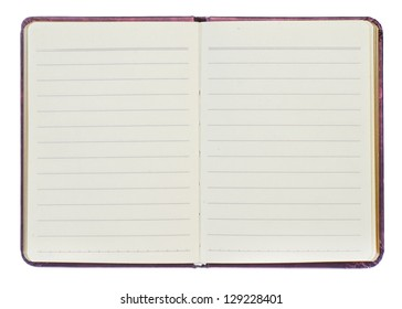 Note book on white background.