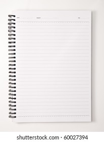 Note book open blank page on isolate white background