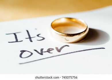 Note describing someone leaving or ending a marriage.