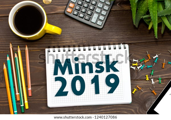 Note Notepad 2019 Minsk Belarus European Stock Photo (Edit