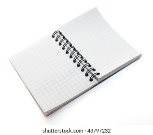 The note notepad in a cage is isolated on a white background