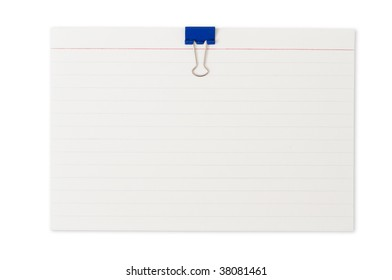 Note pad with clips isolated on white