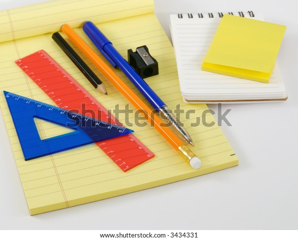 Note pad and set-square